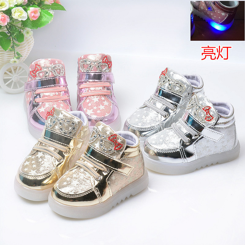 2016 Children Glowing Sneakers Zapatillas Led Shoes Kids Girls Shoes Boys Kids Light up Shoes Pink Lighted Trainers Casual Shoes