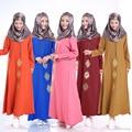 2016 moda abaya muçulmano longo menina vestido roupas mulheres turcas djellaba burqa plus size dubai árabe vestido bordado