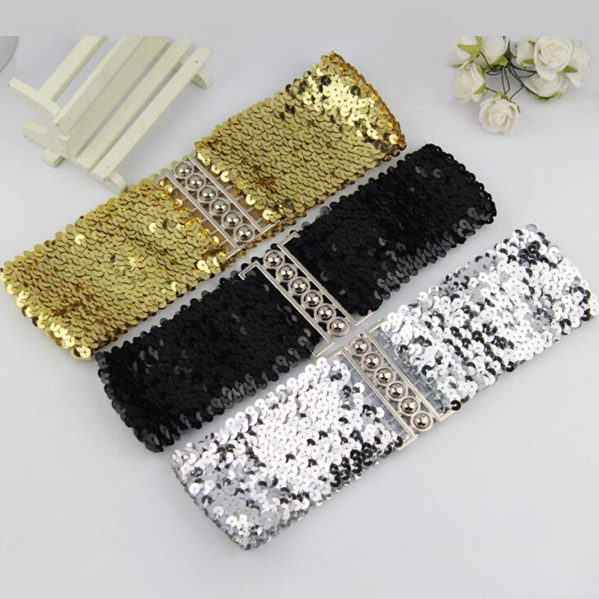 Suitable For Adult Women Fashion Waistband Dress Accessories Vintage Manual sequins   Belt   Straps Jul20