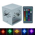 AC85-265V 3W Aluminum Led Wall Lamps RGB With Remote Controller Sconce Light For Corridor Porch KTV Bar Home Decoration Lighting