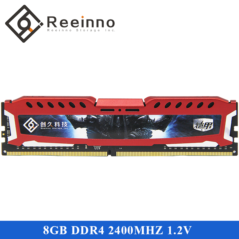 Reeinno 8GB DDR4 2400MHz 1.2V NON-ECC 288-pin DIMM Desktop Ram For Computer Games RAMS Lifetime Warranty Support DDR4 In stock
