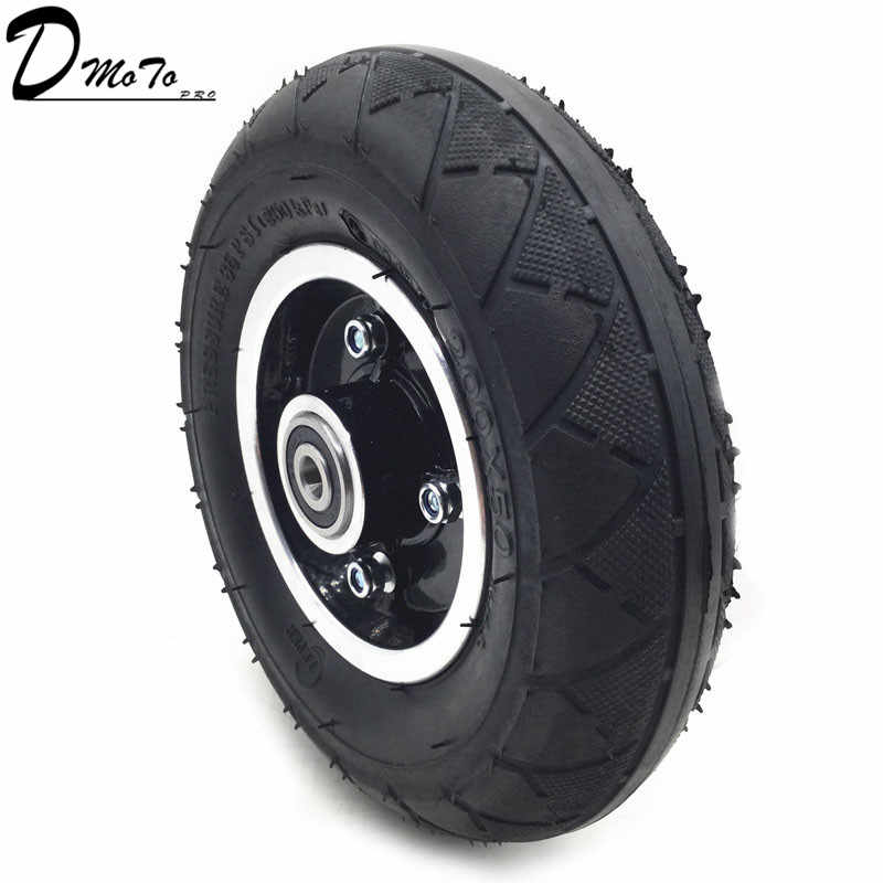 "200x50 Electric Scooter Tyre With Wheel Hub 8"" Scooter Tyre Aluminium Alloy Wheel Pneumatic Tire Inflation Electric Vehicle"