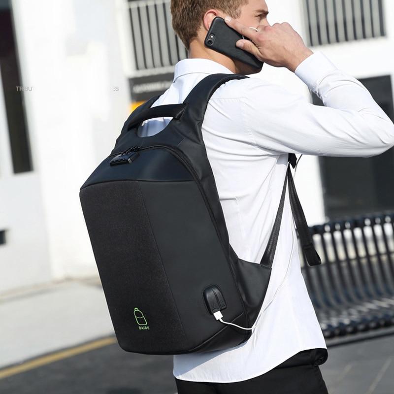 Sports de plein air sacs de Sport sac à dos à bandoulière sac de Sport pour adolescent USB Charge ordinateur Anti-vol sac à dos pour ordinateur portable sac de Fitness 25