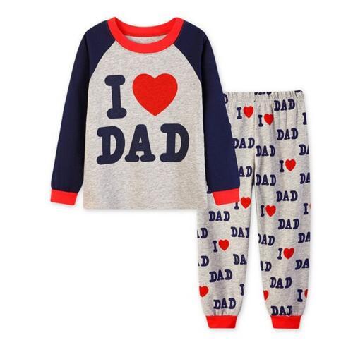 2418a4260c632 Bébé fille garçon costume vêtements pour enfants ensemble t shirt +  pantalon j aime maman papa bébé pyjamas sommeil fixés coton costumes de  sous vêtements ...