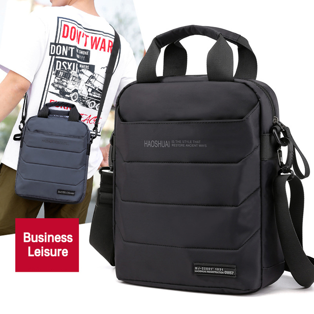 Man Classic Messenger Bag Mens Multifunction Shoulder Bags Nylon Business Wallet Bag For Men Simple Handbags XA259ZC
