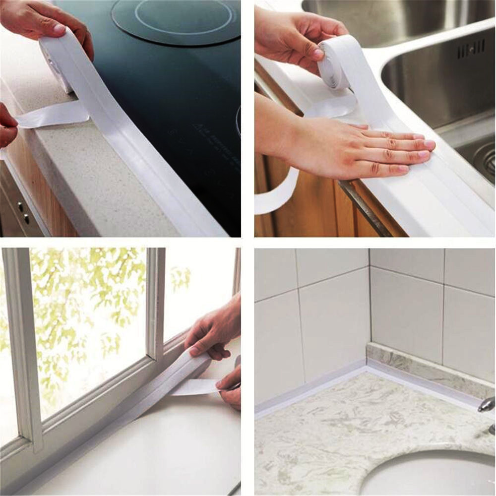 New Sink Tile Crack Repair Mildew Tape Waterproof Caulk Strip ...