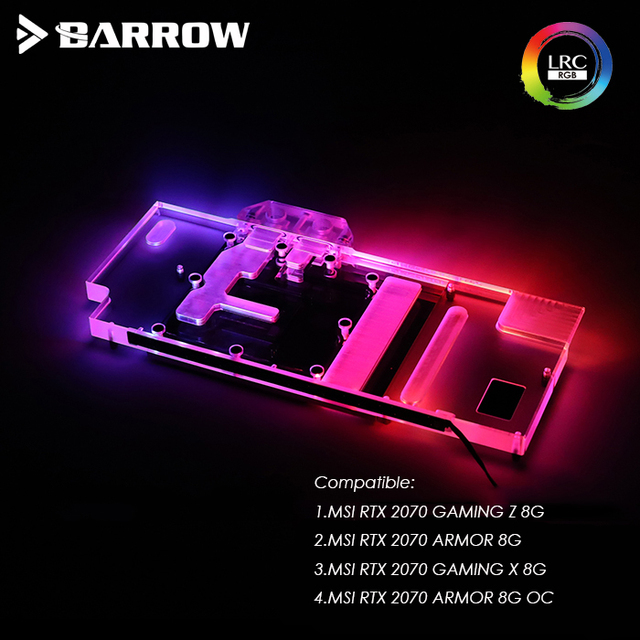 US $104 5 |BS MSGZ2070 PA Barrow GPU Water Cooling Block for MSI RTX 2070  GAMING Z 8G/X 8G, MSI RTX 2070 ARMOR 8G /OC LRC 2 0 Light -in Fans &  Cooling