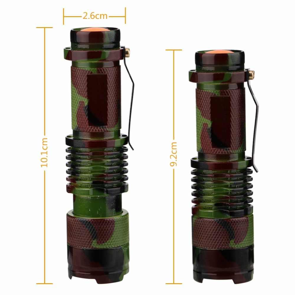 Camuflagem de alumínio lanterna 1000 lumens lente convexa xpe led tático tocha militar ao ar livre acampamento escalada lâmpada luz