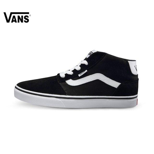 Originele Vans Zwart en Blauw Kleur Hoge-Top mannen Sneakers Voor Mannen  Skateboarden Schoenen Sportschoenen