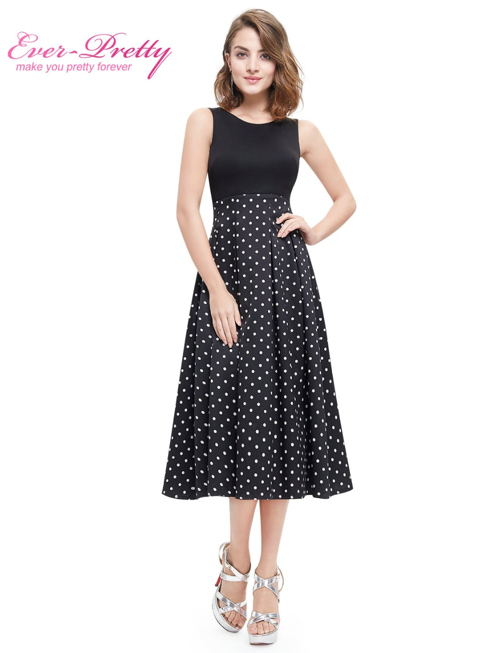 dc4fa701fc US $20.99 30% OFF|Real Photos Homecoming Party Dresses A Line High Quality  Ever Pretty AS05440WB Sleeveless Plus Size 2018 New HomeComing Dress-in ...