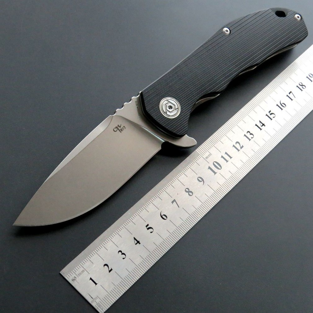 Brave Fighter Hot New CH3504 Folding Knife D2 Steel Blade G10 Handle Outdoor Camping Knives Hand