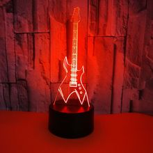 GAOPIN 3D LED USB Remote Touch Lighting Cable Fashion Eletric Guitar Shape Home Decorative Night Light