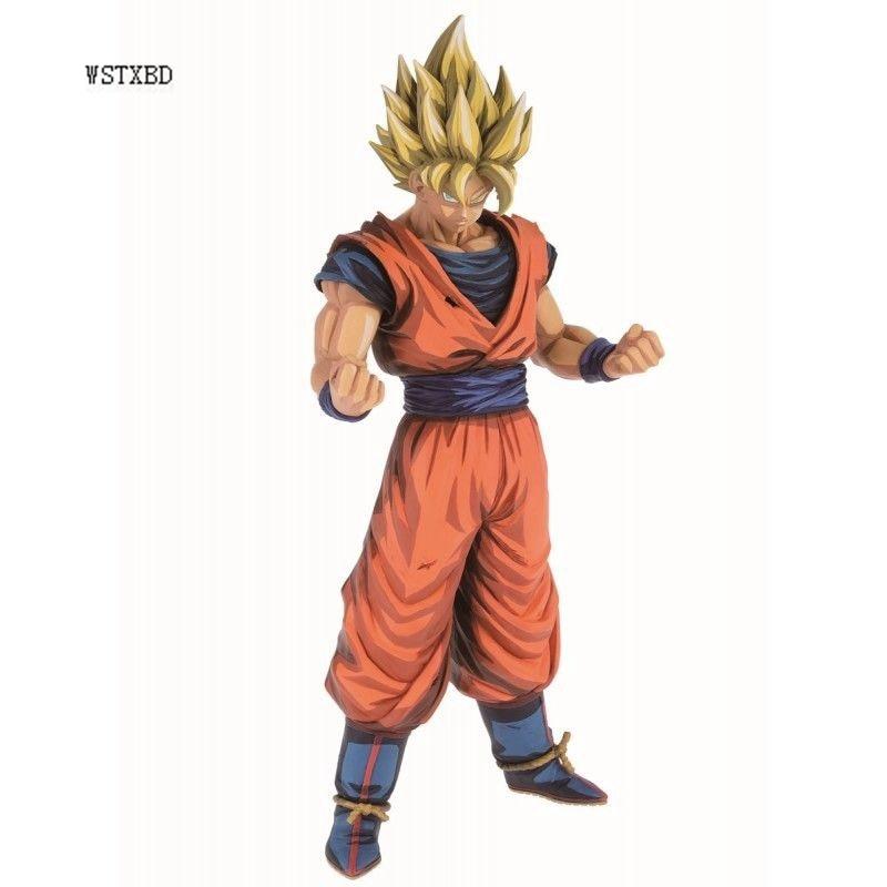 все цены на WSTXBD BANPRESTO Original Dragon Ball Z DBZ Grandista SSJ Goku 2D Manga Action Figure Toys Figurals Dolls Brinquedos Limited