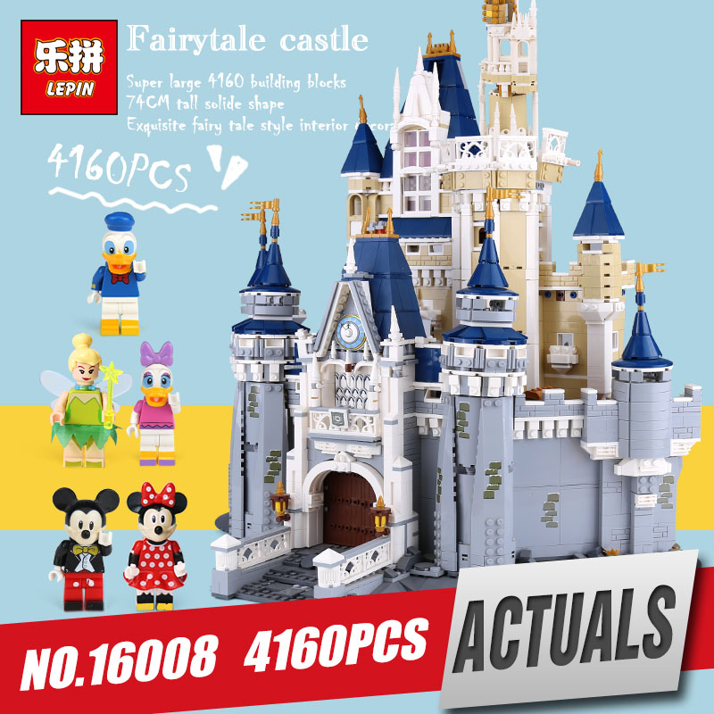 DHL LEPIN 16008 Cinderella Princess Castle City Model Educational Building Block Kid Toy Compatible Legoing 71040 Christmas Gift lepin 16008 lepin cinderella princess castle building block compatible legoing 71040 legoing cinderella princess castle set