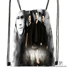 Custom supernatural @03-Drawstring Backpack Bag Cute Daypack Kids Satchel (Black Back) 31x40cm#180611-01-30
