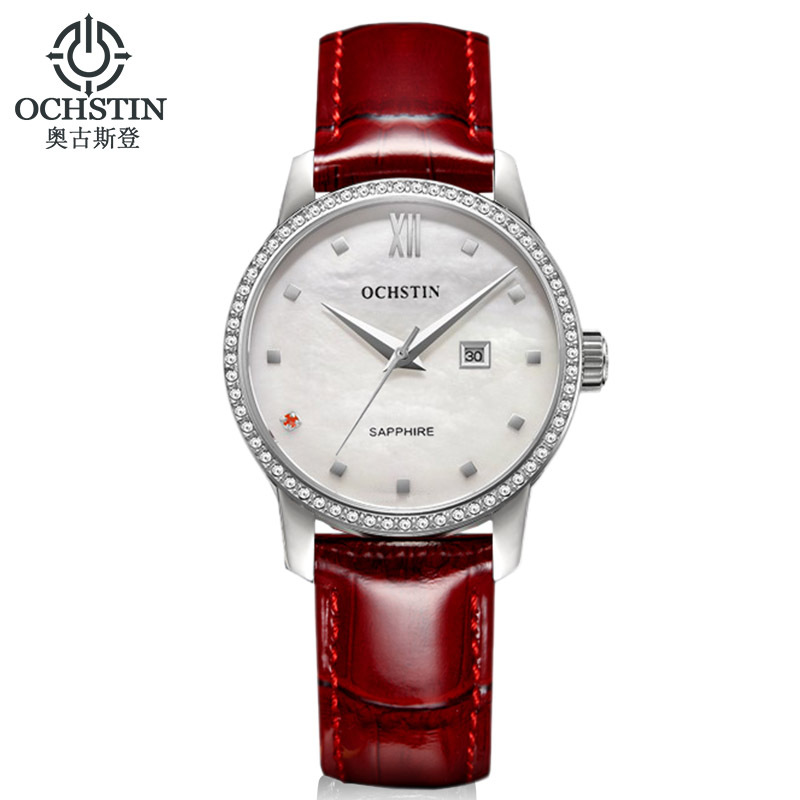 ФОТО Fashion Crystal Watches Women Luxury Brand Rhinestone Watch Ladies Casual Leather Dress Watches Women Clock Female relojes mujer