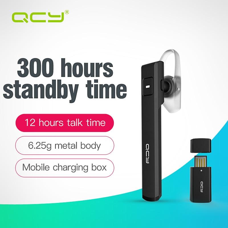 bilder für QCY J05 smart auto anruf kopfhörer bluetooth headset drahtlose kopfhörer mit Mikrofon freisprecheinrichtung und 120 mAh mobile stromversorgung bank