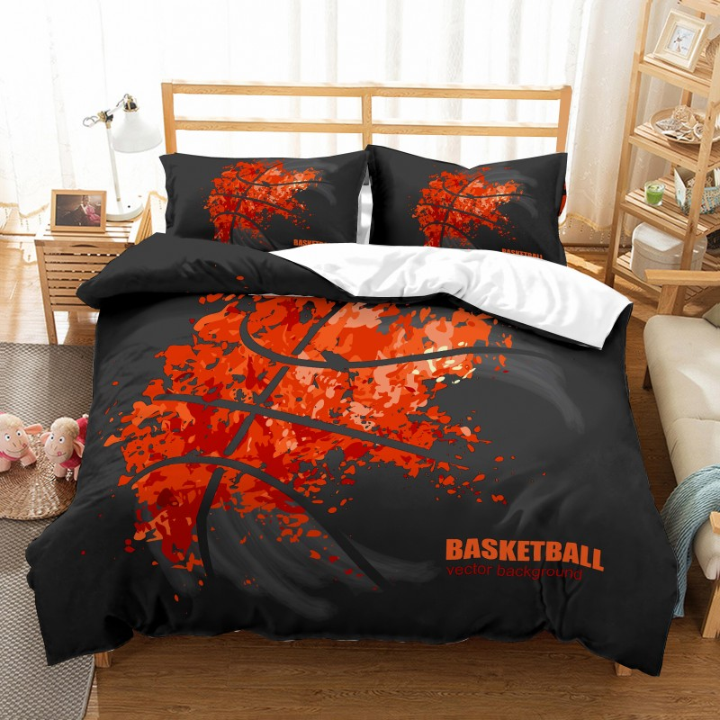 Hot Basketball Sport Style Printing Bedding Set 3 pcs Duvet Cover Pillowcases Bed Clothes Comforter Covers Bed Sets 3D