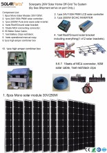 Boguang Solarparts Seriers 1x 2000W Solar Home off-grid tie systems sea shipment 8pcs 250W mono solar modules bracket controller