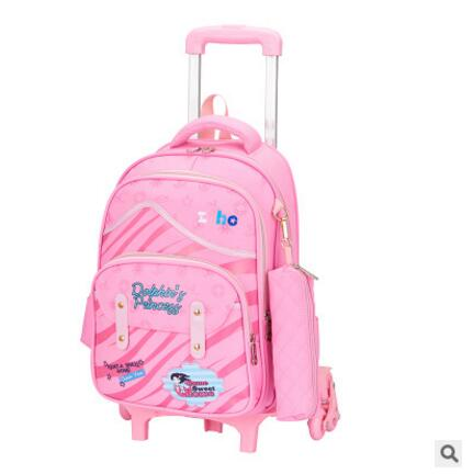 School Trolley bags wheeled backpacks for girls kids School Rolling backpack bag Children luggage bag kid School Bags On wheels цена