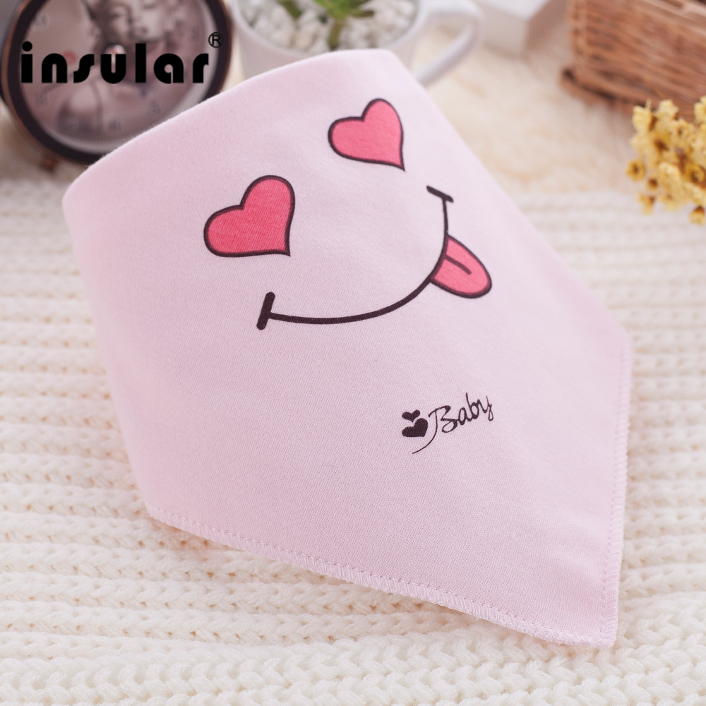 Insular 1 PCS100% Cotton Newborn Baby Bibs Baby Feeding Bibs for Baby Girl and Boy Bandana Saliva Cloth Lovely Kids Scarf