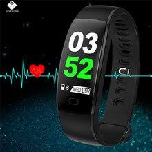 GIVENONE F64HR Heart Rate Monitor de Fitness Rastreador Anti-lost Pulseira Chamada Lembrar Encontrar Telefone Pedômetro Inteligente Pulseira Pulso Banda