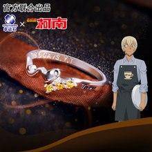Detective Conan Ring Furuya Rei Rings Silver 925 Sterling Cross Jewelry Anime Role Bourbon Zero For Boyfriend Gift