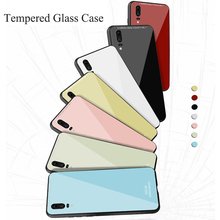 Tempered Glass Case for Huawei P30 Pro Soft Silicon Bumper Colorful Cover For Mate 20 Nova 4 Honor V20 Y9 2019