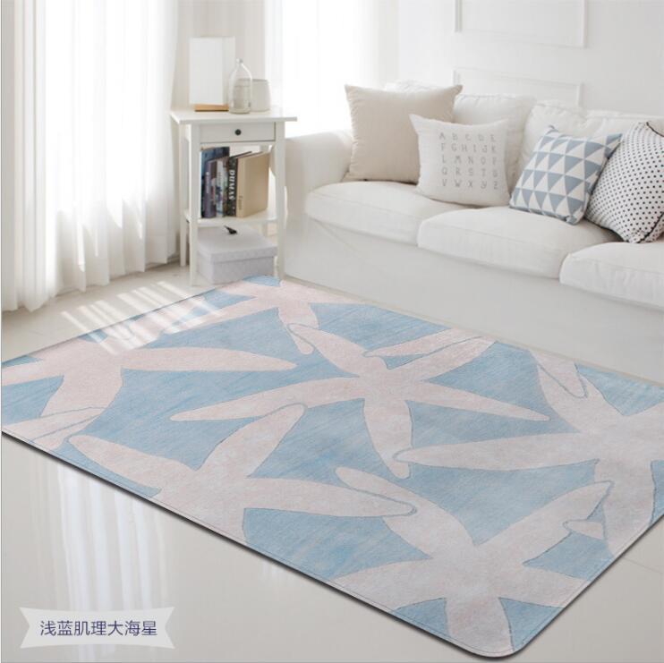 2018 Morden mer animaux corail velours tapis pour salon chambre tapis ordinateur canapé Table basse tapis et tapis de jeu - 6