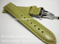 2019 high quality true Lizard Pattern 18mm 20MM Watche Band Strap Belt luxury man Watchbands Butterfly buckle For Brand straps