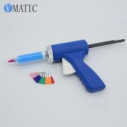 Trasporto Libero 10cc 10 ml Flusso di Plastica Pistola/Flusso di Saldatura Pistola di Saldatura/Saldatura Pistola/Siringa Pistola per silicone Per olio verde