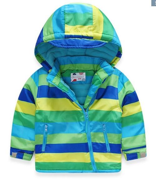 Unisex Child Boy Girl snow Striped suit winter Polar fleece jacket girls boys trench coat manteau hiver fille doudoune enfant