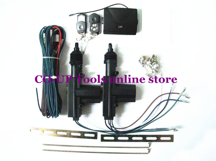 Universal Car DC 24V 2 Wire Heavy Duty Power Door Lock Actuator Auto Locking System Motor With Hardware