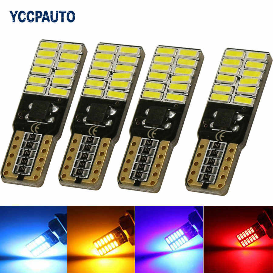 T10 W5W Car LED Lights 194 168 24 Leds 4014 SMD Lights Lamp clearance bulb door reading lamp turn signal Bulb 4PCS/LOT New