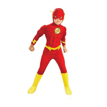 The Flash Costume for Kids Halloween Carnival Party Dress Muscle Superhero Cosplay for Boys Halloween Superman Mask Set man latex spider costume for kids halloween superhero party cosplay carnival spider boys fancy dress