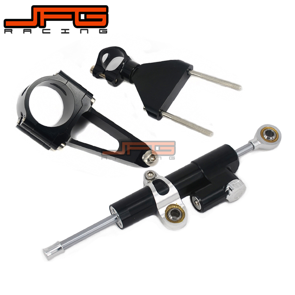 CNC Steering Damper Stabilizer Linear Reversed Safety Control & Adapter Bracket For CBR600F4I CBR600 F4I 1999 2000 2001 02 03 04 cnc steering damper stabilizer linear reversed safety control & adapter bracket for honda cb400 cb 400 vtec 1999 2000 2001 2012