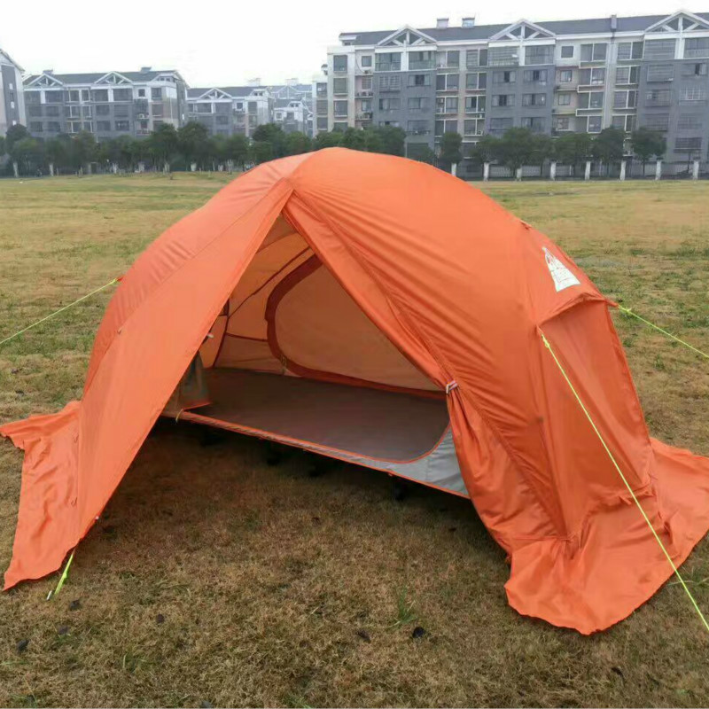 Outdoor Camping Single Aluminum Alloy Ultra-light Tent Climbing Camping Folding Bed Stretcher Three-in-one Multi-functional Tent hot sale outdoor survival travel camping climbing waterproof folding single tent