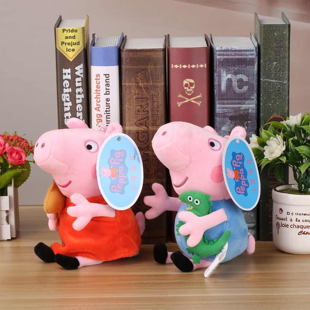 Original Marca Peppa Pig Stuffed Plush Toys 19/30 centímetros Peppa George Família do Porco Bonecas Para Meninas Presentes Do Partido animal Brinquedos de Pelúcia