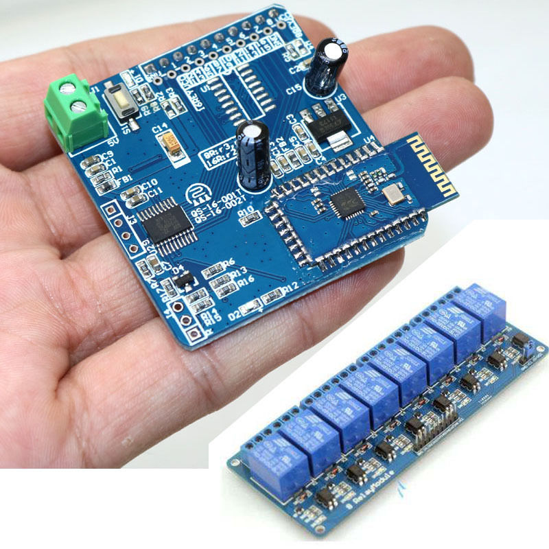 8 Channel Module + 8CH Bluetooth Relay Merge Android Remote Control Switch Motor Light Phone APP