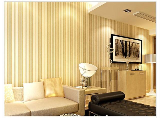 Vertical Stripe Pattern Non Woven Wall Paper Decor Living Room ...