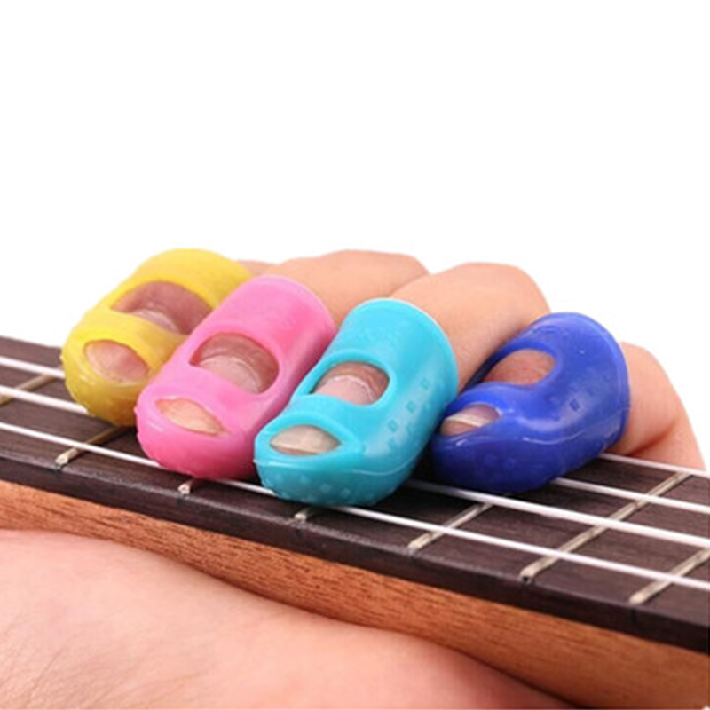 5Pcs-Silicone-Guitar-Thumb-Finger-Picks-Protector-Plectrum-Fingertip-thimble-Finger-Guard-safety-protect-caps-Colors (1)