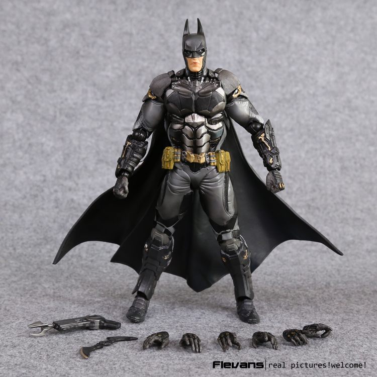 PlayArts KAI Batman Arkham Knight PVC Action Figure Collectible Model Toy 27cm HRFG459 neca dc comics batman arkham knight batarang replica action figure with light collectible model toy