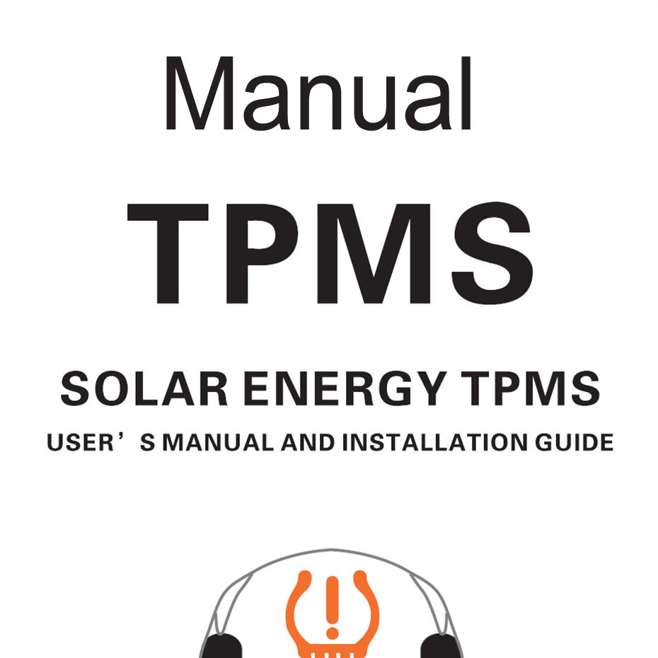 Online Manual for TPMS Solar Power Car Tire Pressure