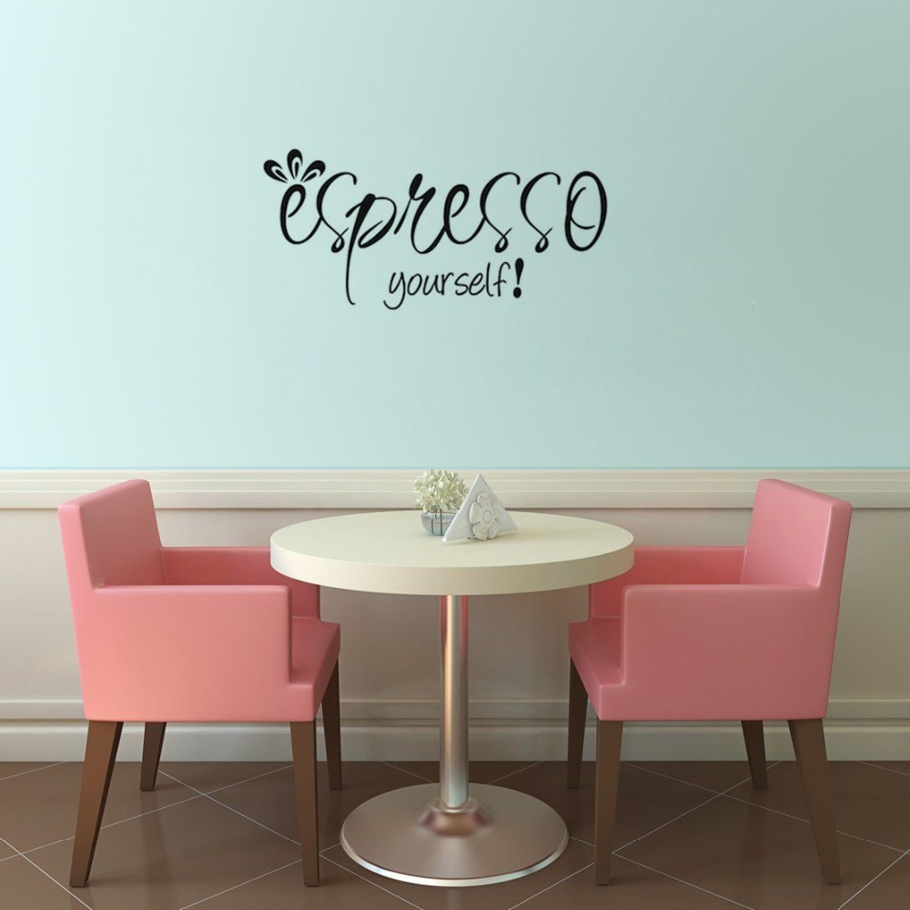 Espresso Yourself Coffee Wall Decal Kitchen Quote Home Decoration ...