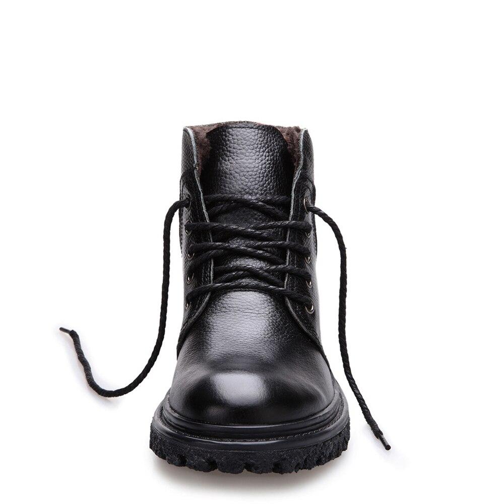 cf4c76c3dc Boots De brown Casuais Handmade Água Masculinos Homens Botas Ankle Black Inverno  Sapatos À Dos Genuíno D  Couro Qffaz ...
