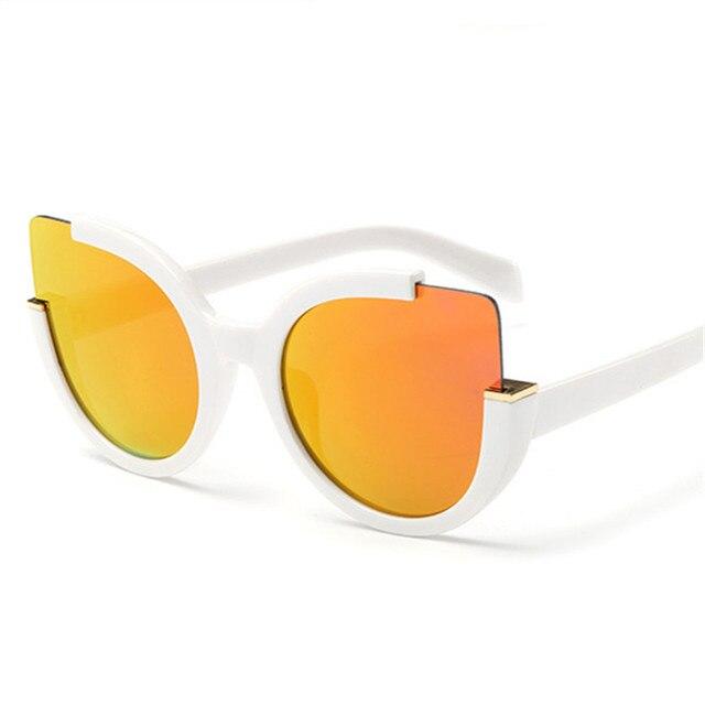 NYWOOH Vintage Sunglasses Women Cat Eye Sun Glasses Womens Brand Designer Mirror Eyewear Ladies Round Frames Eyeglasses UV400 4