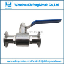 "3"" 76mm sanitary stainless steel tri clamped ball valve"