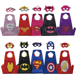 Christmas Halloween Superhero Cartoon Costume Hero Game Costumes Cape With Masks For Kids Birthday Cosplay Free Shipping