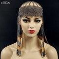 Headbrand CHRAN Head Cadena de Metal Piezas de la Marca de Lujo Borla Accesorios Clásico Cuerpo Principal de La Joyería Collar de Cadena para Las Mujeres