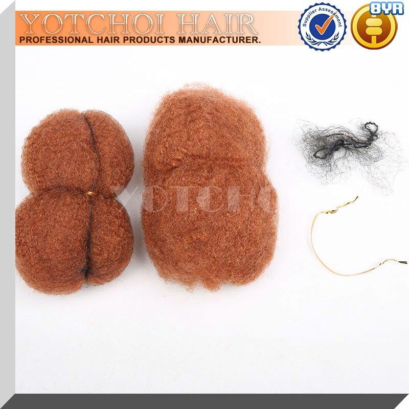 Yotchoi serré afro crépus en vrac 100% cheveux humains pour dreadlocks, torsion tresses moyenne anburn couleur 30 # longueur 6